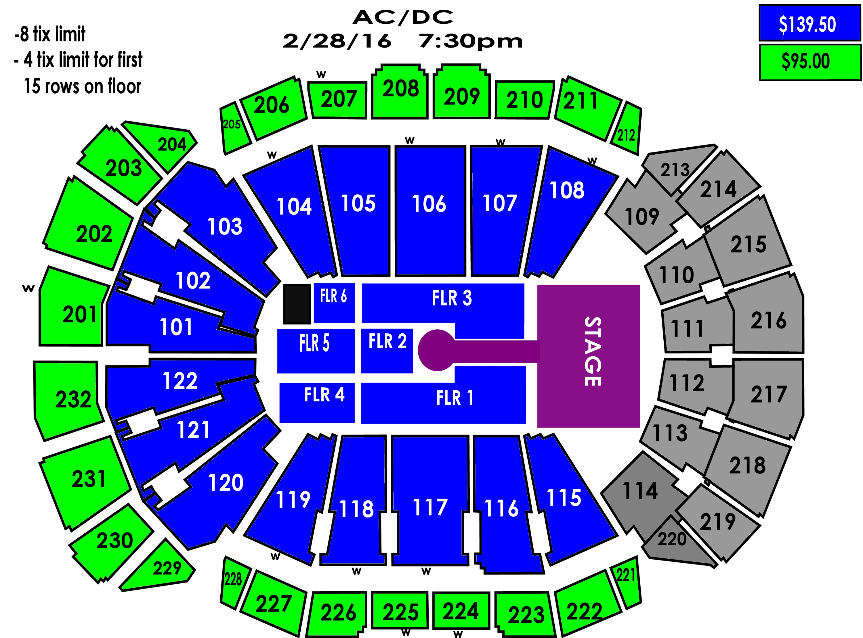 Gallery Of Sprint Center Seating Chart With Rows