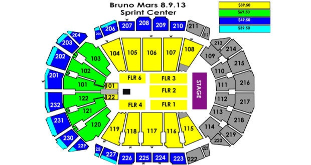 Bruno Mars Tour 2020 Kansas City Bruno Mars | Sprint Center