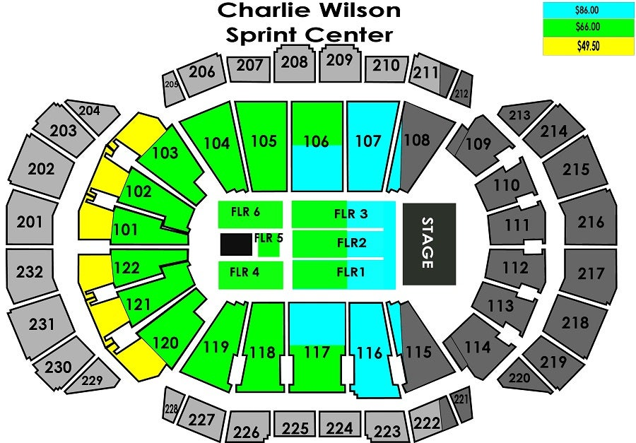 Sprint Center Seating Chart With Rows And Seat Numbers