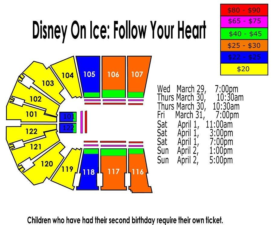 Disney on ice follow your heart sprint center