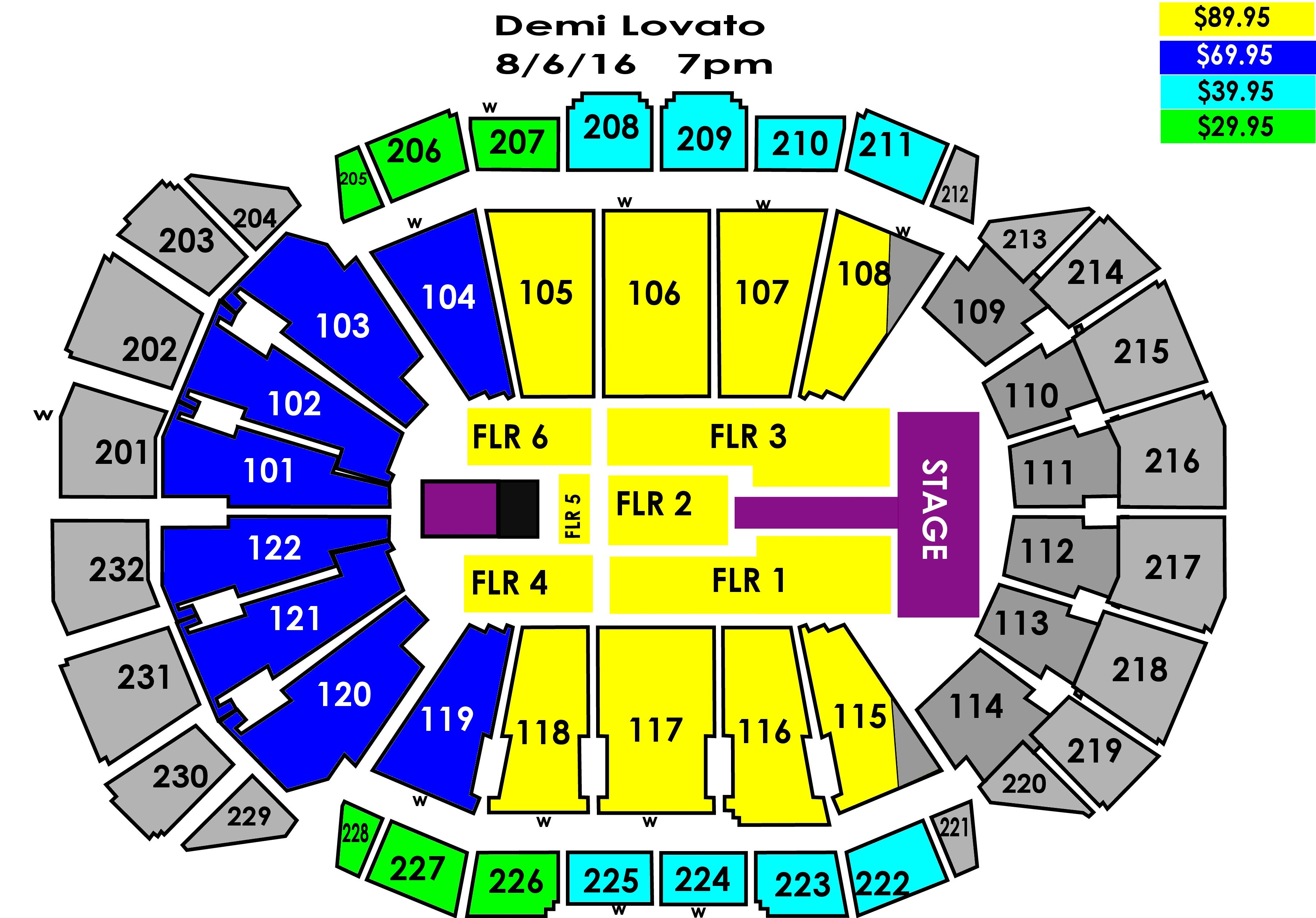 Demi lovato nick jonas sprint center