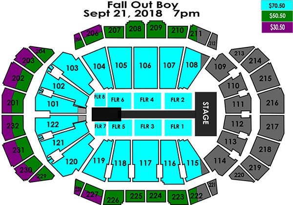 Seating charts sprint center