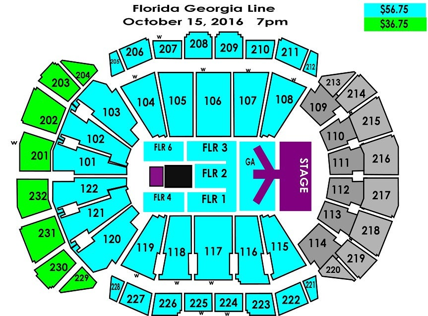 Florida And Georgia Map.Florida Georgia Line Sprint Center