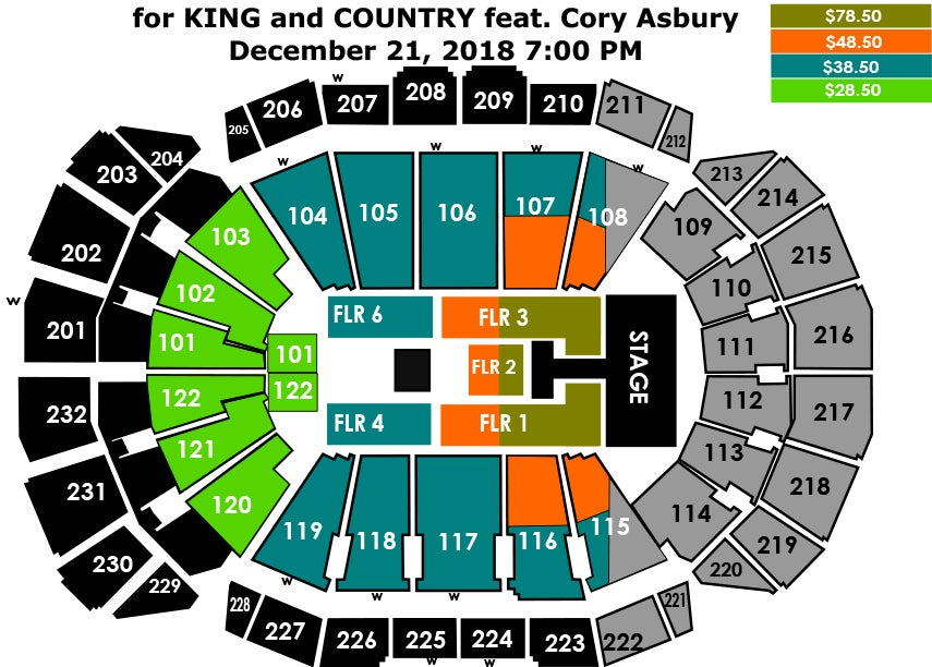 For king country sprint center