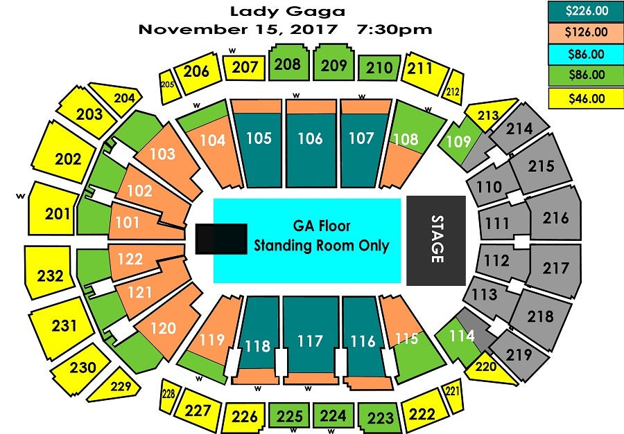 lady gaga sprint center kansas city venueartist