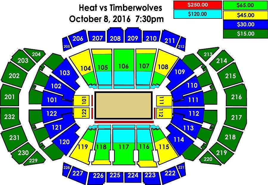 T Wolves Vs Heat Sprint Center