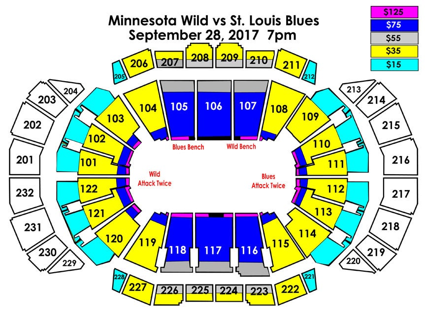 minnesota wild vs st louis blues sprint center