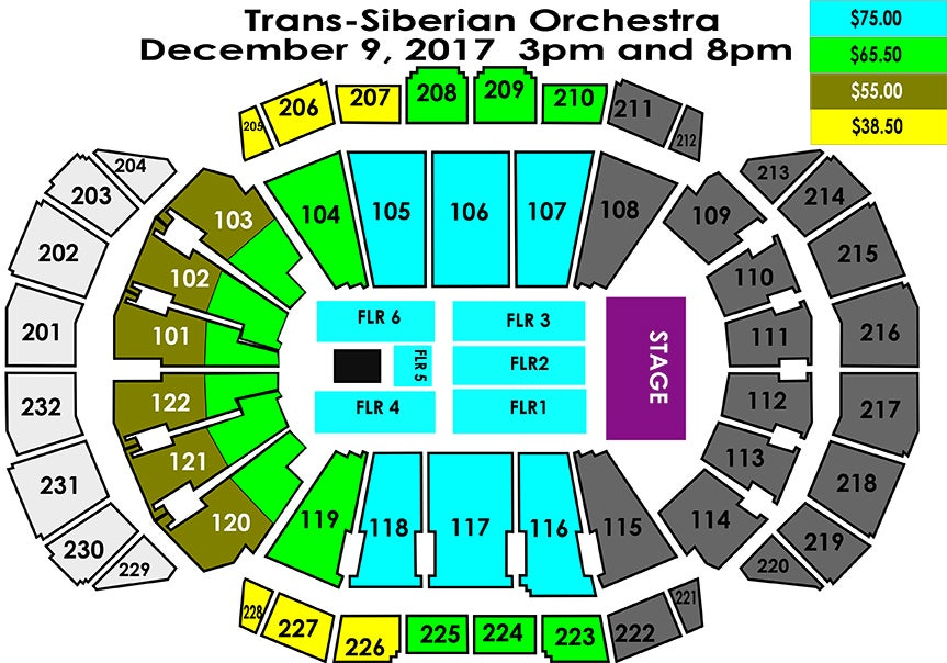 Trans siberian orchestra sprint center