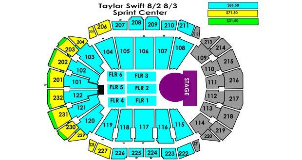 Taylor Swift T Mobile Center